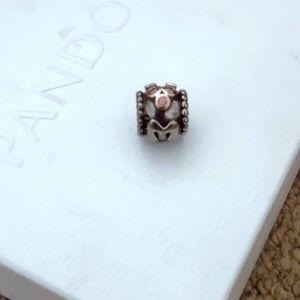 Pandora MOM Bead with Pink Crystals